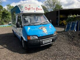 Ford Transit soft ice cream van, Carpgiani, bock compressor