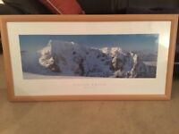 3 x Colin Prior mountain prints in frames