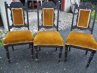 3 SOLID VINTAGE CHAIRS