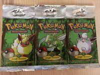 Exchange 3 unopened Pokemon Jungle Boosters for 3 unopened Pokemon Base Set