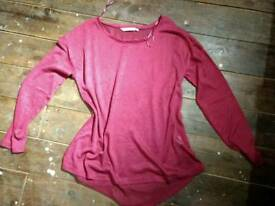 Size 12 Long sleeve shirt purple & flower