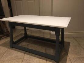 Real wood shabby chic coffee table