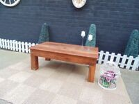 SOLID SHESHAM JALI WOOD LARGE COFFEE TABLE ALL SOLID AND IN EXCELLENT CONDITION 110/60/41 cm £50