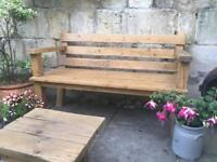 Reclaimed Wood Garden Benches