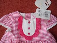BNWT Summer dress, knickers, hat & shoes 2-4months