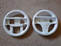 Two Nintendo Wii Steering Wheels