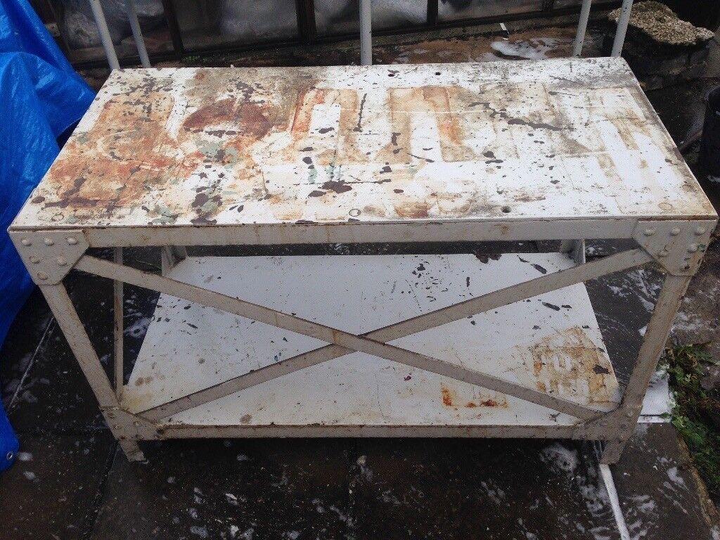 HEAVY duty workbench / fabrication table / vice/