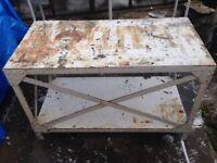 HEAVY duty workbench / fabrication table / vice/ garage, mechanics, engineers, fabricator, diy, shed
