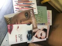 Collection of makeup books
