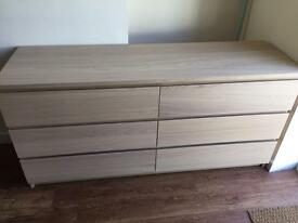 Ikea Malm Double Chest Of Draws