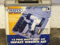 DRAPER 15 PIECE AIR IMPACT WRENCH KIT NEW IN BOX