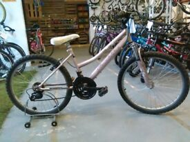 PROBIKE CHARISMA BIKE 24 INCH WHEELS 18 SPEED FRONT SUSPENSION PINK GOOD CONDITION