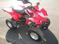 ROAD LEGAL KYMCO KXR 250 CC SPORT IN GOOD ALL AROUND CONDITION, READ FULL AD PLEASE.