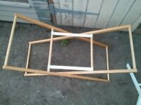 Two Moses Basket Stands
