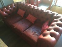 S seats red Chesterfield