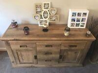 Oak effect sideboard