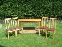 Brand New, Never Used Six Seater Pine Dining Table the Ashdon Range with Four Chairs. Can Deliver.