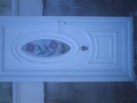 white upvc external door size h 77 in w 35 1/2