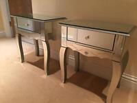 Mirror Bedside Tables (2)