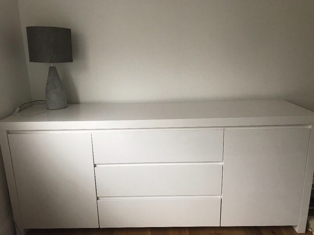 Dwell White High Gloss Sideboard Like Ikea In East Renfrewshire Gumtree