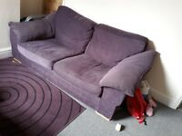 Large purple sofa
