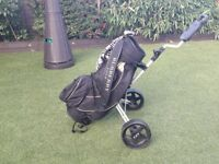 Burberry Golf bag and trolley. Genuine Burberry.