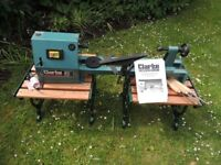 Clarkes 20 inch hobby wood lathe with spare drive belt (never used)