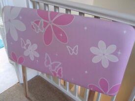Girls butterfly head board for a single bed