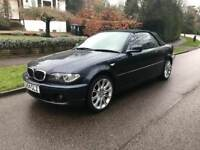 BMW 318 ci SE CONVERTIBLE 2005 FULL SPEC 2 KEYS FIVE SPEED BLUE 89k LONG MOT 07377926604
