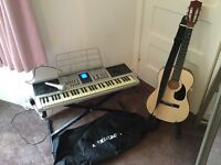 Child's guitar and keyboard