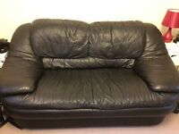 Small black sofa for sale - collection only