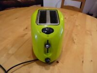 Bright green toaster