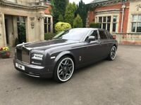 Chauffeur driven Rolls Royce hire, weddings, airport transfers long distance journeys