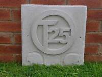 Vw t25 ; wall plaque; cast stone
