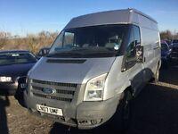 2007 ford transit longwbase in silver good driver long mot side loading door no 4th gear hence