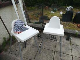 Ikea highchair x2