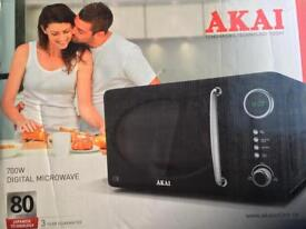 AKAI black digital microwave