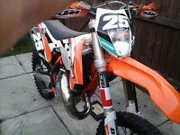 KTM 125 EXC 2015 ON 64 PLATE
