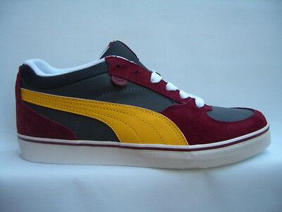 PUMA SKATE VULC bordeaux/grey/yellow  354604  Sneakers