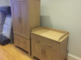 Wardrobe and chest/baby change station