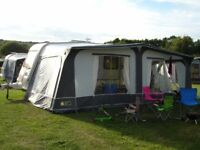Leisure New Forest Caravan awning size 1000cm, used but in very good condition, incl groundsheet