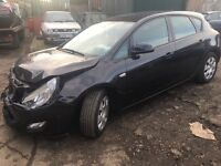 VAUXHALL ASTRA J, 1.3 CDTI, 2011 (61 PLATE), 5 SPEED, BREAKING FOR SPARES