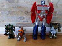Transformer toys - Grimlock, Autobot Hound, Megatron