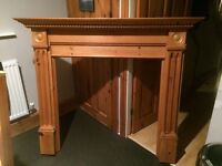 Pine fireplace for sale, excellent condition