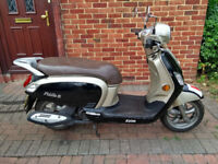 2015 SYM Fiddle 125 scooter, new 12 months MOT, very good condition, runs very well, bargain ,,,