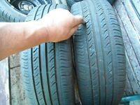185 X 55 X 15 , HAVE A M,ATCHING PAIR TYRES , GOOD TREAD GOOD COND,ON 4 X 100 V/HALL STEEL WHEELS