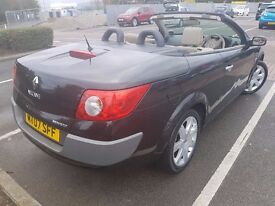 2007 Renault Megane Convertible Automatic 1.6 VVT Privilege Proactive 2dr 9 month MOT no Advisory