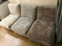3 x one seater sofas excellent condition