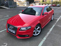 2009 (59) Audi A4 2.0 TDI S-line 4dr Manual Red Saloon 6 Months Warranty Included