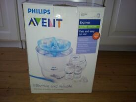 Philips Avent Steriliser & FREE box of bottles